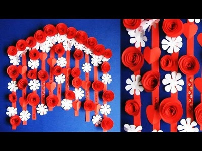 DIY. Simple Home Decor. Wall, Door Decoration. Hanging Flower. цветы из бумаги. Paper Craft Ideas 7