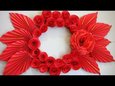 DIY. Simple Home Decor. Wall, Door Decoration. Hanging Flower 101. цветы из бумаги. Paper Craft