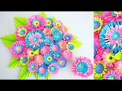 DIY. Simple Home Decor. Wall, Door Decoration. Hanging Flower. цветы из бумаги. Paper Craft Ideas 61