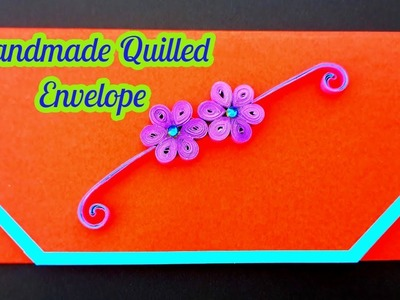 How to make DIY Paper Quilling envelope - DIY Paper Crafts - Birthday Gift Card Ideas # 84