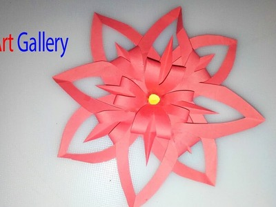 PAPER FLOWERS | PAPER HANDBOOKS. Paper flower. Preschool Crafts | Объемная 3D снежинка из бумаги
