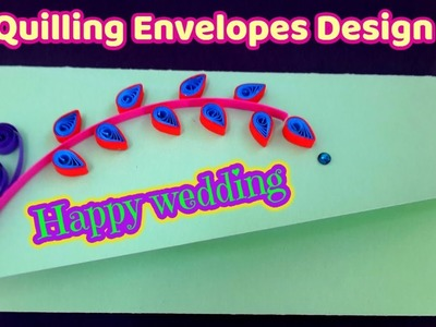 How to make DIY Paper Quilling envelope - DIY Paper Crafts - Birthday Gift Card Ideas # 83
