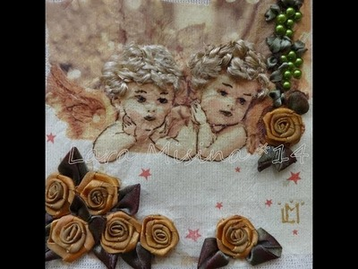 Angels Arts - textiles paintings - Kurdele nakışi - Ribbon Embroidery Art - Вышивка лентами Ангелы