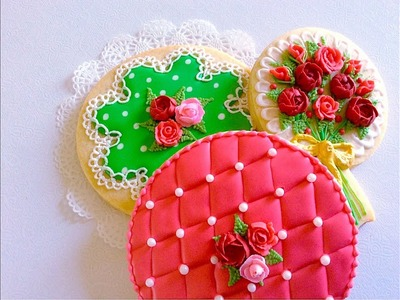 Polka dot, Lace, Quilting cookies.