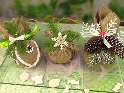 Шары из мешковины.Christmas crafts. ХоббиМаркет