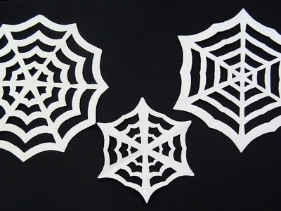 How to make a paper Spider WEB ( 3 in 1 ) - Yakomoga Halloween DIY tutorial