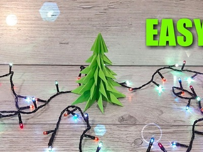 DIY: 3D PAPER CHRISTMAS TREE. HOW TO MAKE A 3D PAPER XMAS TREE
