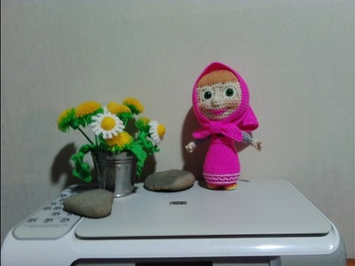 "Маша из ""Маша и медведь"", ч.3.  Masha from ""Masha and the Bear"", р.3. Amigurumi. Crochet."