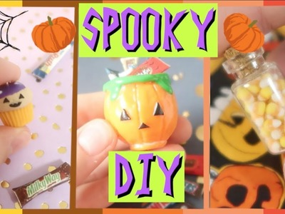 HALLOWEEN POLYMER CLAY TUTORIAL ????. Хэллоуин DIY