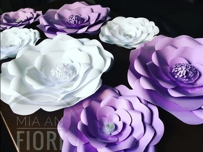 Бумажные цветы, How To Make Paper Flowers, DIY, fleurs de papier géantes