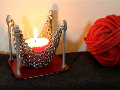 Candle holder. Decoration Idea. Handmade. Creative ideas. Shabalin Design