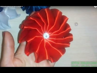 Цветочек - бантик Канзаши,МК\Kanzashi\kanzashi\satin ribbon decoration\satijnen lint decoratie