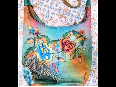 Hand painted leather bags. Мои сумки.