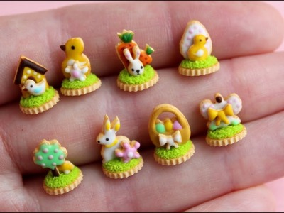 Miniature Easter gingerbread cookies. Tutorial. DIY. Polymer clay. Пасхальные пряники