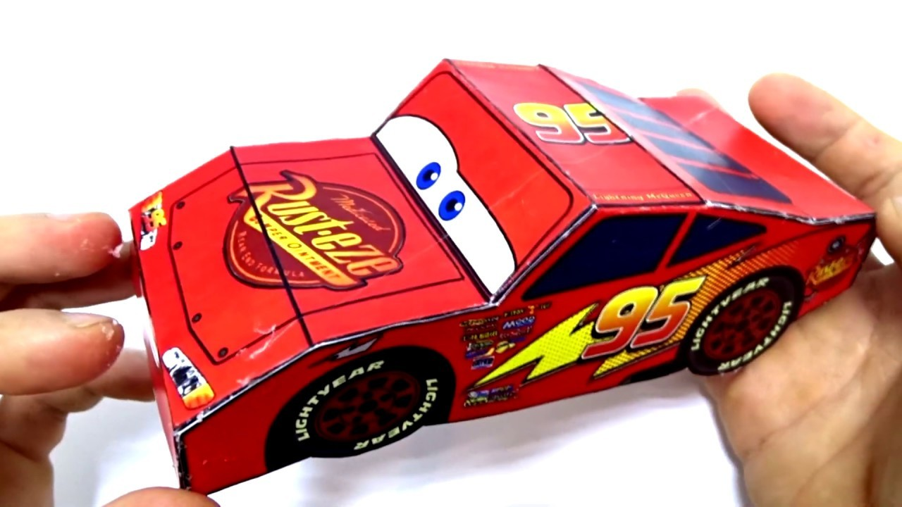 Cars 3 models diy! How to make minute crafts with papar for kids Lightning Mcqueen