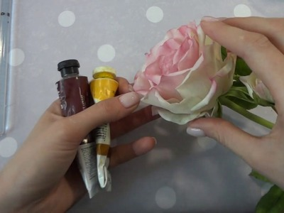 DIY rose of air-dried polymer clay (cold porcelain) PART 1