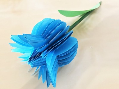 How to Make Tulip Flower with paper. Paper Crafts. Basteln mit Papier. Origami Flower (Эмилия)