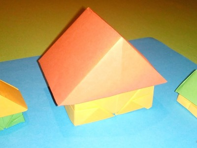 How to make a Paper house : Origami (3D)