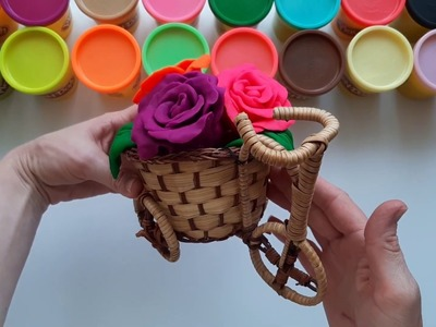 How to Make Beautiful Play Doh Rainbow Flowers ????