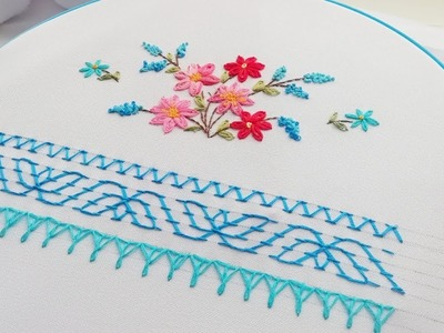 Nakshi Kantha Design * Edging stitch | Вышивка: Декоративные стежки | Puntadas decorativas