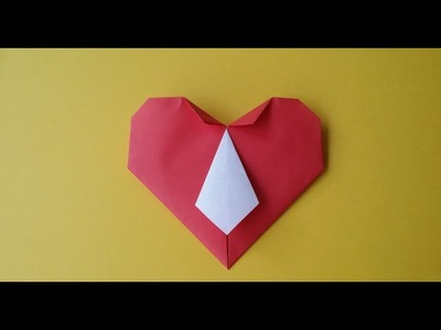 How to make origami hearts with a tie. Прикольное сердце с галстуком. 摺紙心與領帶. ネクタイと折り紙の心.