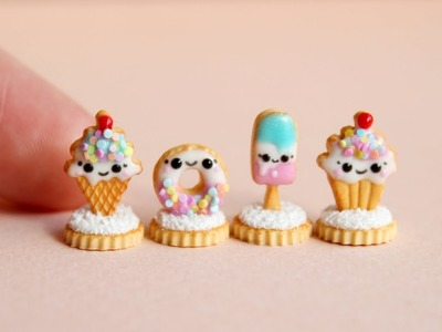 Miniature cute gingerbreads. Made from polymer clay. Tutorial. DIY. Милое печенье из пластики.
