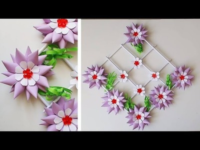 DIY. Paper Craft Ideas. Wall, Door Decoration. Цветы из бумаги. Simple Home Decor 307