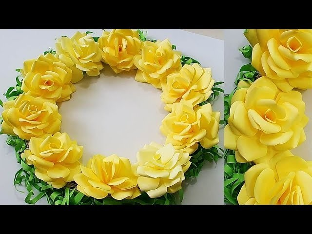 DIY. Simple Home Decor. Door, Wall Decoration.Paper Craft Ideas Цветы из бумаги 107