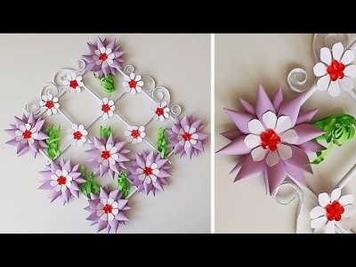 DIY. Simple Home Decor. Door, Wall Decoration.Paper Craft Ideas Цветы из бумаги 307