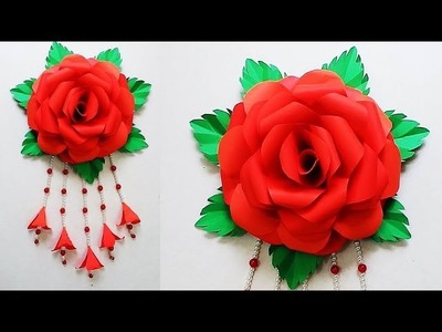 DIY. Simple Home Decor. Door, Wall Decoration.Paper Craft Ideas Цветы из бумаги 296