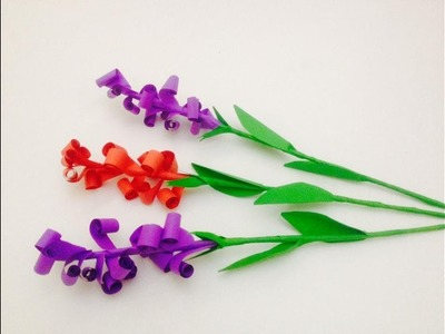 How to make Beautiful lavender paper flowers. Origami flower making