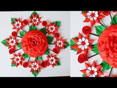 Paper Wall Hanging Craft Ideas - Paper Flower - Paper Craft - Wall Decoration Ideas 607