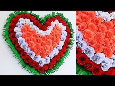 DIY. Simple Home Decor. Wall, Door Decoration. Цветы из бумаги. Paper Craft Ideas # 50