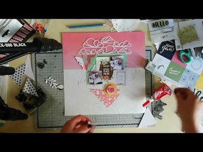 Video tutorial scrapbooking Видеопроцессом страничка скрапбукинг
