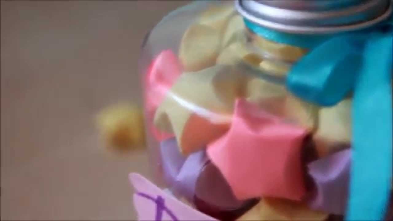 DIY: Dream Jar With Colorful Paper Stars | Stasy Kendel