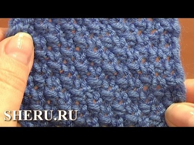 Knitting Stitch Library Pattern  Урок 5 Узор путанка