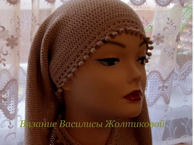 Шарф крючком. Шарф-снуд. Crochet. How to tie a scarf.
