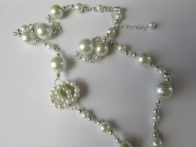 Chanel Style Pearl Necklace. DIY . Бусы Chanel .