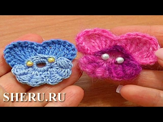 How To Crochet Pansy Flower  Урок 64 часть 2 из 2 Вязаная фиалка
