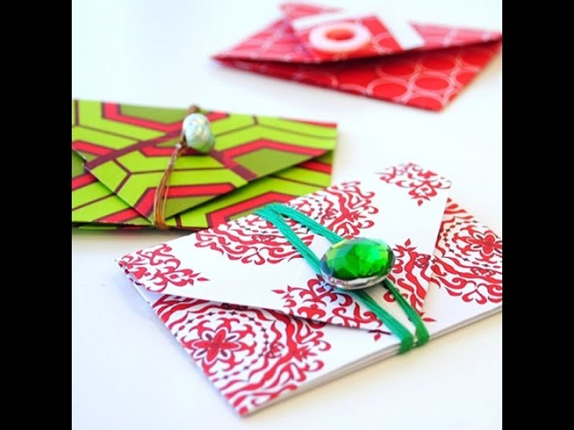 Origami gift envelope.  Подарочный конверт. Gift wrapping. Ideas for Presents