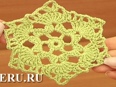 Crochet Octagon Pattern Урок 17 часть 1 из 2 Полотно из шестиугольных мотивов