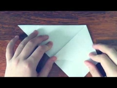 How to make origami a paper glass