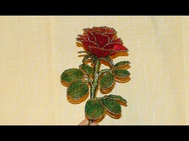 PART 1 of 2 Как сделать розу из бисера. How to make a rose out of beads
