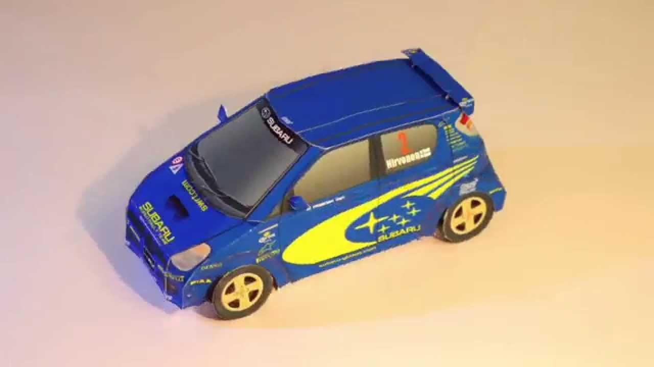 Сar toys. Papercraft car Subaru R2. Cars for kids