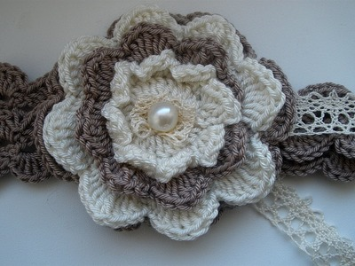 Crochet Flower Statement Necklace. Part 2.Step by step. Вязаное колье.