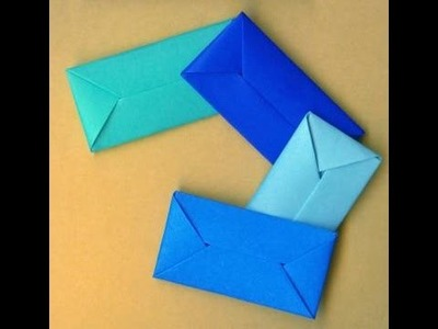 How To Make An Envelope Without Glue Or Tape. Gift wrap. Конверт - оригами
