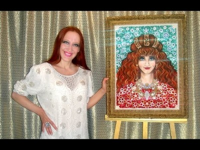Вышивка бисером, жемчугом Портрет мамы. Шедевр. Birthday gift beadwork art