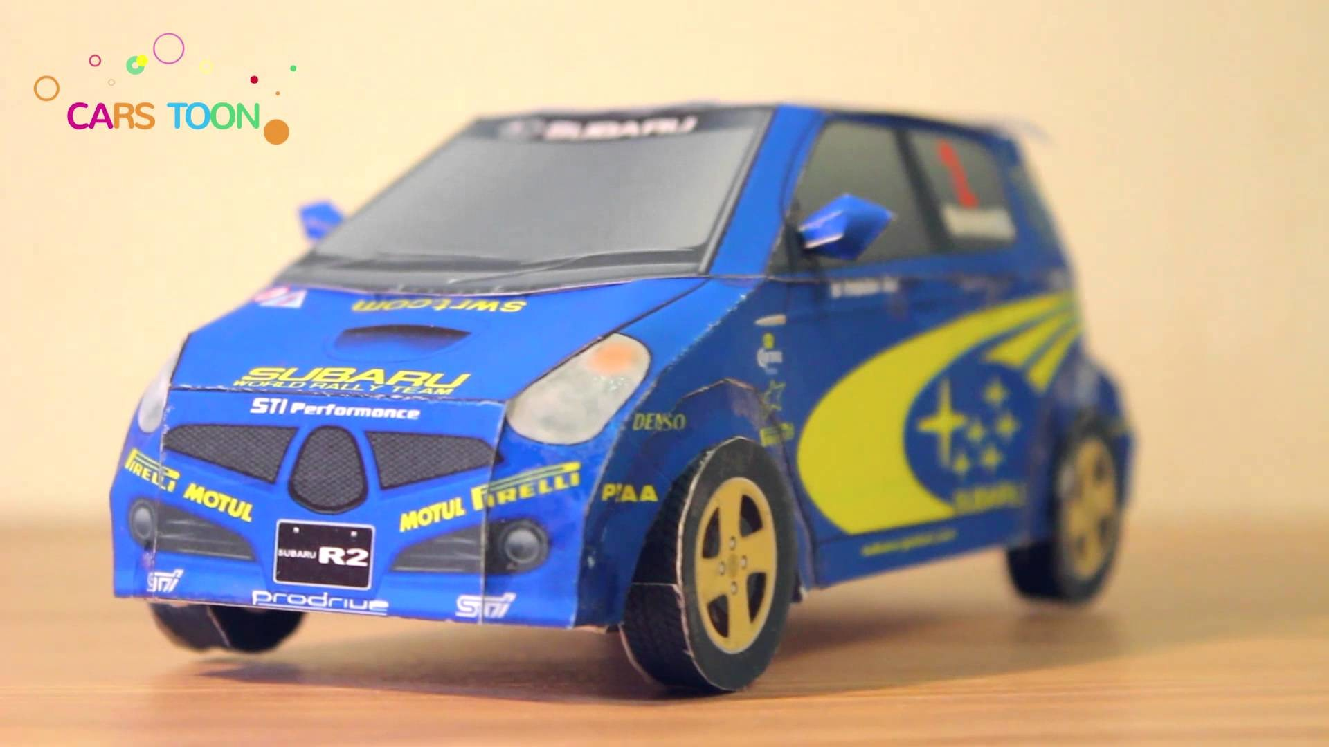 Сar toys. Cool papercraft Subaru R2. Cars for kids