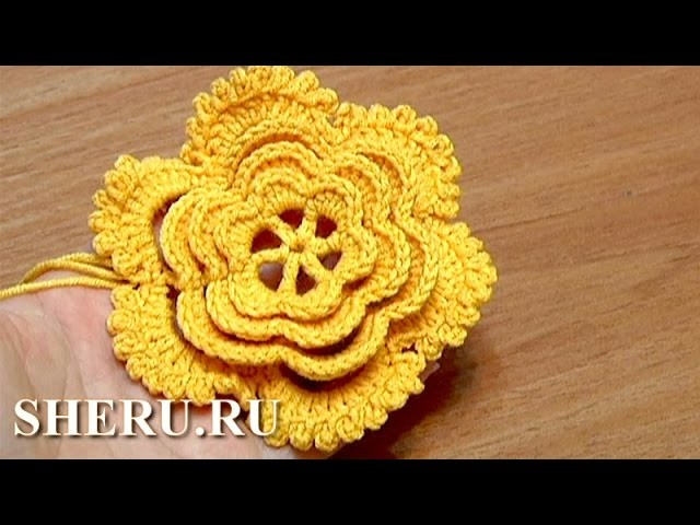 6-Petal Flower How To Crochet Tutorial 24 Part 1 of 2 Вязание цветка