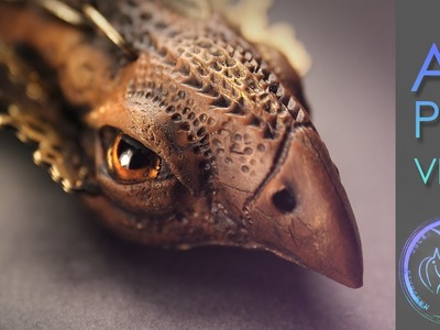AMAZING POLYMER CLAY DRAGON - Whistle from polymer clay by Mandarin Duck Полимерная глина